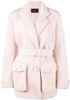 Simone Rocha scuba belted trench coat - women - Polyester/Acetate - 6