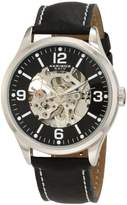 Akribos XXIV Men's AKR494SS Round Skeleton Automatic Strap Watch