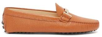 Tod's Gommino Pebbled-leather Loafers - Womens - Tan