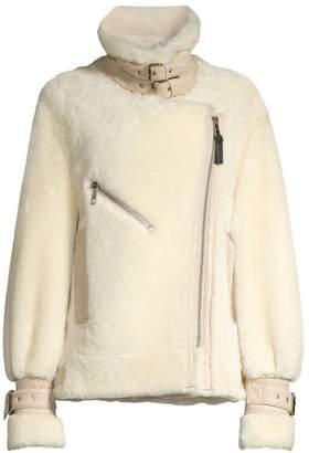Nicole Benisti Greenwich Shearling Biker Jacket