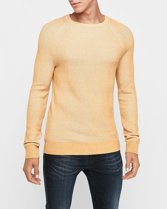 Express Plaited Rib Crew Neck Sweater