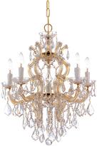 Crystorama Polished Gold Maria Theresa Chandelier
