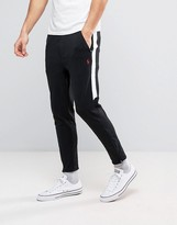 Polo Ralph Lauren Slim Fit Tapered Jogger With Zip Hem In Black