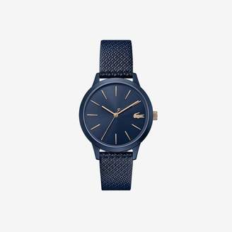 Lacoste Ladies 12.12 Premium Watch with Blue Leather Petit Pique Strap