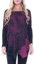 Olian Women's Bernadine Lace Overlay Maternity Top