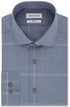 Calvin Klein Men's Slim-Fit Multi-Check Dress Shirt