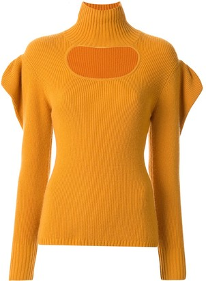 Manning Cartell Australia Ruffle Sleeve Cut-Out Detail Sweater