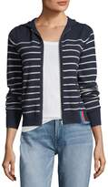 Kule The Drake Zip-Front Striped Cashmere Jacket
