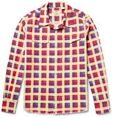 Levi's Shorthorn Camp-Collar Checked Cotton-Flannel Shirt