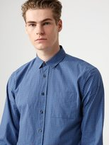 Frank + Oak Mini Gingham-Check Poplin Shirt in Riviera