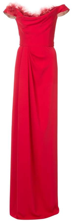 Marchesa off-shoulder maxi dress