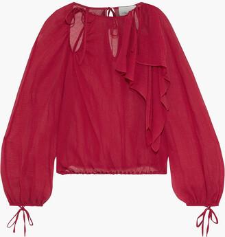 3.1 Phillip Lim Cutout Ruffled Cotton And Silk-blend Gauze Blouse