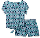 My Michelle mymichelle Tie Front Top & Short 2-Piece Set (Big Girls)