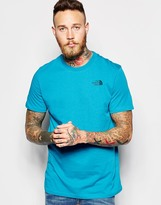 The North Face T-shirt With Chest Logo - Blue