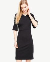 Ann Taylor Petite Fluted Sleeve Sheath Dress