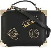 Aspinal of London box bag with faux-patches - women - Leather - One Size
