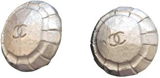 Chanel CC Silver Metal Earrings