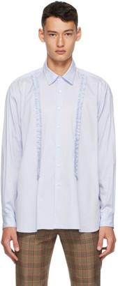 Molly Goddard Blue Poplin Jessie Shirt
