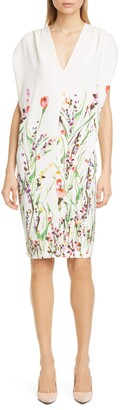 Lela Rose Wildflower Print Sheath Dress