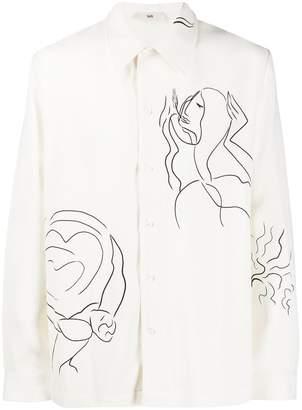 Séfr long sleeved Silent print shirt