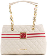 Love Moschino quilted logo tote - women - Polyurethane - One Size