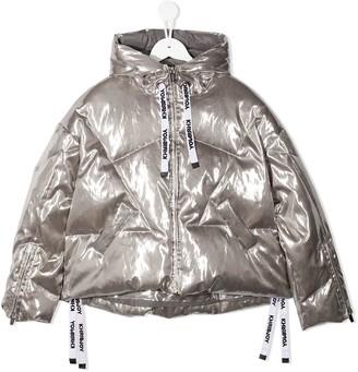Khrisjoy Kids Metallic-Tone Zip-Up Down Jacket