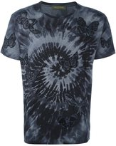 Valentino 'Rockstud Tie&Dye' embroidered butterfly T-shirt - men - Cotton/Polyester/Viscose - M