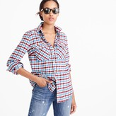 J.Crew Petite boyfriend shirt in crimson petal plaid