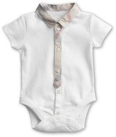 "Burberry Infant Boys' ""Layette Tannar"" Short Sleeve Bodysuit - Sizes 1-24 Months"