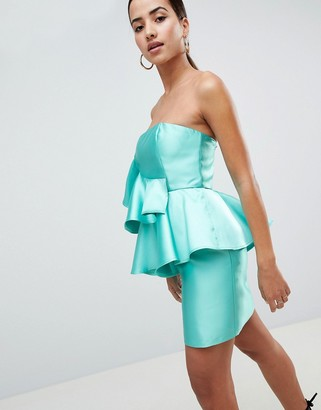 Asos Design DESIGN Cocktail Mini Dress With Extreme Ruffles-Multi