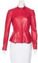 Robert Rodriguez Leather Peplum Jacket