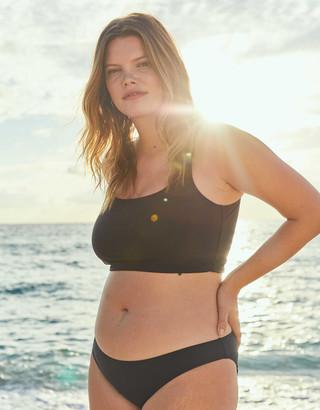 aerie Wide Strap Longline Scoop Bikini Top