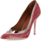 Malone Souliers Emmanuelle Two-Tone Velvet 100mm Pump, Pink