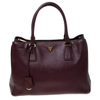 Prada Galleria Burgundy Leather Handbags