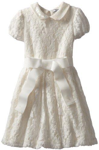 Hartstrings 2-6X Little Knit Lace Dress