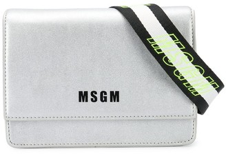 Msgm Kids Logo Detail Shoulder Bag
