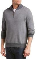 Brooks Brothers Herringbone 1/2-zip Merino Wool Sweater.