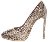 Alaia Laser Cut Pointed-Toe Pumps