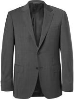 Canali - Grey Sharkskin Wool Suit Jacket