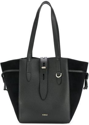 Furla Leather Contrast Tote Bag