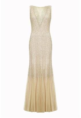 Ariella London Ariella Leilani Beaded Fishtail Gown