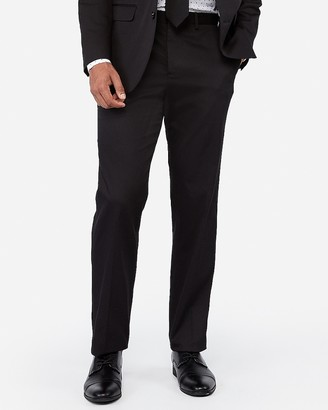 Express Classic Black Cotton-Blend Stretch Suit Pant