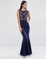 Lipsy Delicate Lace Trim Maxi Dress