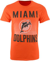 Junk Food Clothing Men's Miami Dolphins Block Shutter T-Shirt