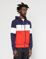 Fila Hugo Zip Through Hoodie Navy