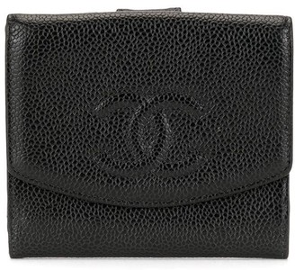Chanel Pre Owned CC logo bifold wallet