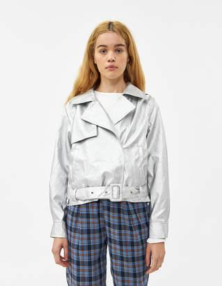 Which We Want Iyla Vegan Leather Metallic Jacket