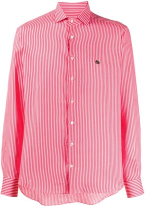 Etro Embroidered Logo Striped Shirt