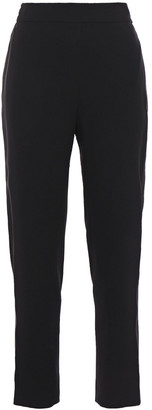 Elie Tahari Willa Satin-trimmed Crepe Tapered Pants