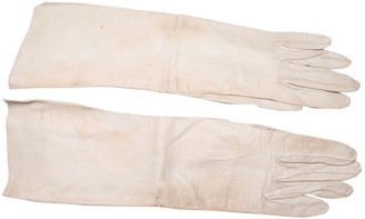 Christian Dior Beige Leather Gloves